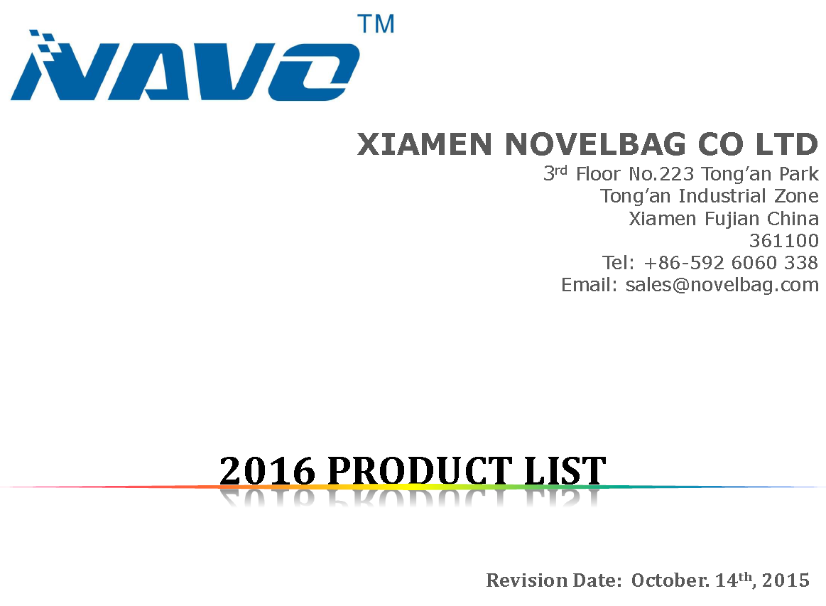 2016 PRODUCT LIST