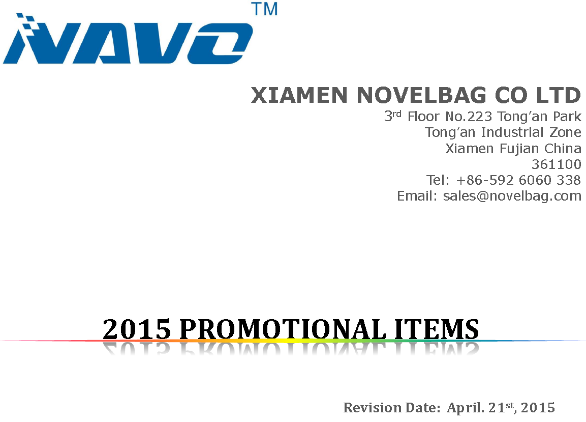 2015 PROMOTIONAL ITEMS